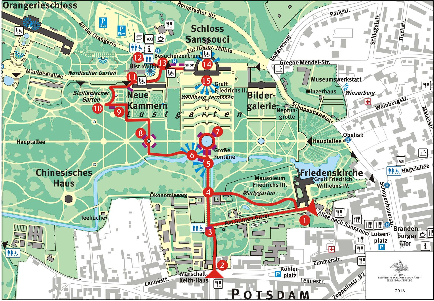 Schlosser Garten Angebote Fur Besucher Mit Handicap Barrierefreiheit Park Sanssouci Stiftung Preussische Schlosser Und Garten